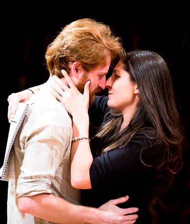 Calder Shilling (Macbeth) and Ally Farzetta (Lady Macbeth) in rehearsal for MACBETH. Photo by Jay McClure.