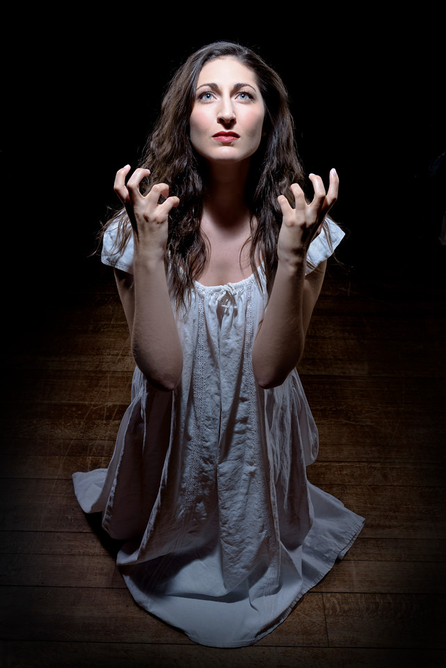 Ally Farzetta as Lady Macbeth in MACBETH. Photo by Michael Bailey.