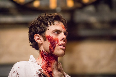 Josh Clark in MACBETH.  Photo by Tommy Thompson.