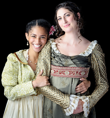 Constance Swain as Marianne and Ally Farzetta as Elinor in SENSE AND SENSIBILITY. Photo by Michael Bailey.