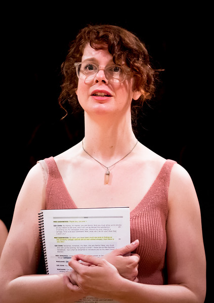 Annabelle Rollison (Mrs Dashwood) in rehearsal for SENSE AND SENSIBILITY. Photo by Jay McClure.