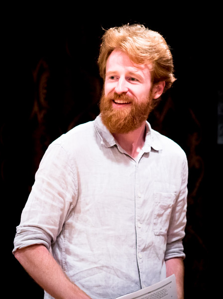 Calder Shilling (Colonel Brandon) in rehearsal for SENSE AND SENSIBILITY. Photo by Jay McClure.