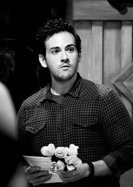 Ronald Román-Meléndez (Edward Ferrars) in rehearsal for SENSE AND SENSIBILITY. Photo by Jay McClure.