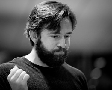Mitchell McCollum (Sir John Middleton) in rehearsal for SENSE AND SENSIBILITY. Photo by Jay McClure.