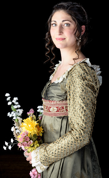 Ally Farzetta as Elinor in SENSE AND SENSIBILITY. Photo by Michael Bailey.
