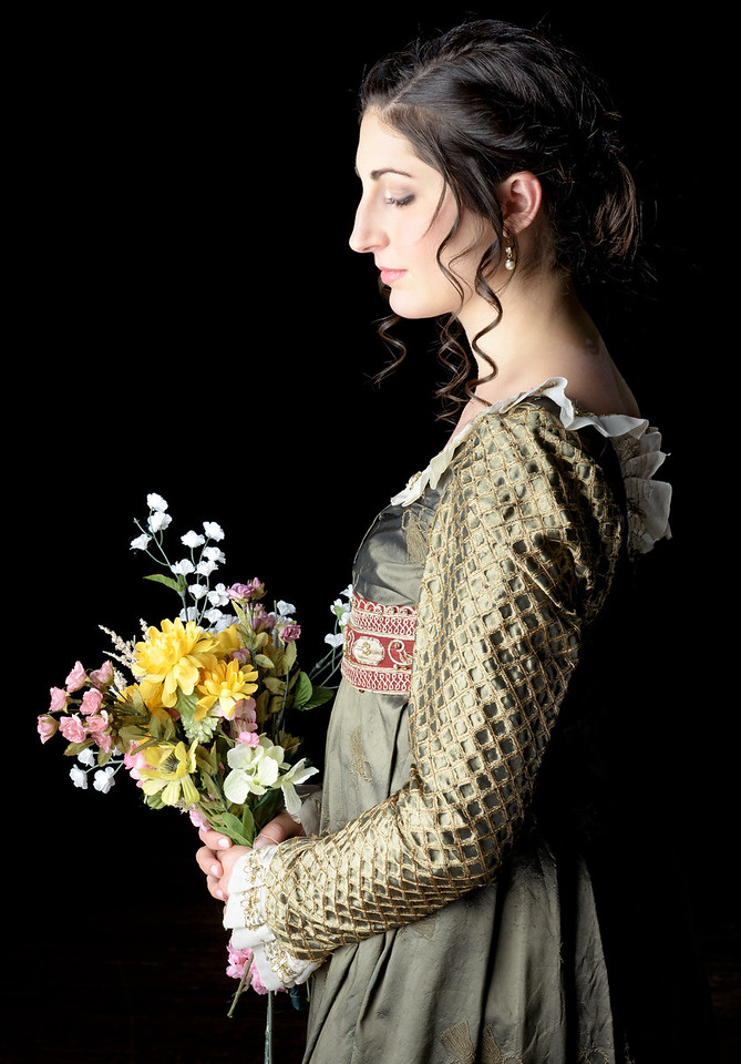 Ally Farzetta as Elinor in SENSE AND SENSIBILITY. Photo by Michael Bailey.
