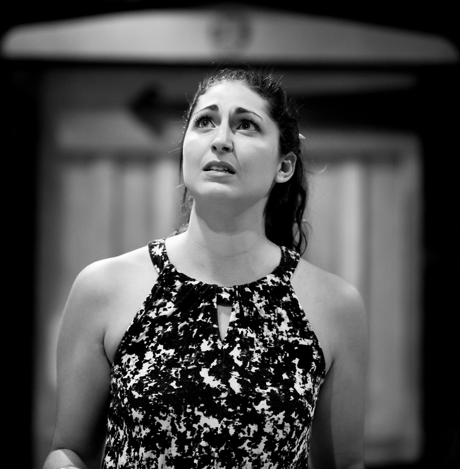 Ally Farzetta (Elinor Dashwood) in rehearsal for SENSE AND SENSIBILITY. Photo by Jay McClure.