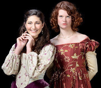 Ally Farzetta as Bianca and Annabelle Rollison as Kate in THE TAMING OF THE SHREW. Photo by Michael Bailey.