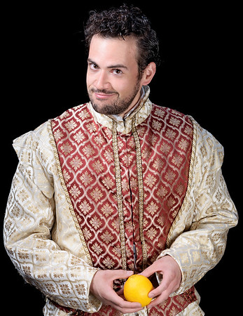 Ronald Román-Meléndez as Petruchio in THE TAMING OF THE SHREW. Photo by Michael Bailey.