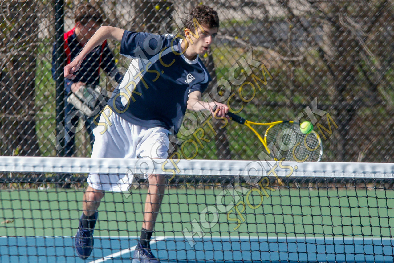 Franklin boys tennis in action (HockomockSports.com photo)