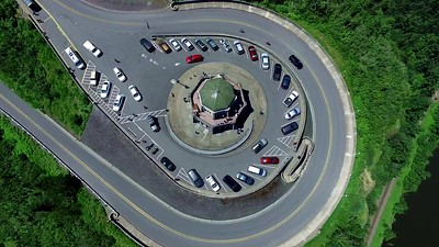 3-The design of Vista House from directly above