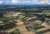 Aufnahmen aus dem Flugzeug vor der Landung in Zürich © Patrick Lüthy/IMAGOpress.com