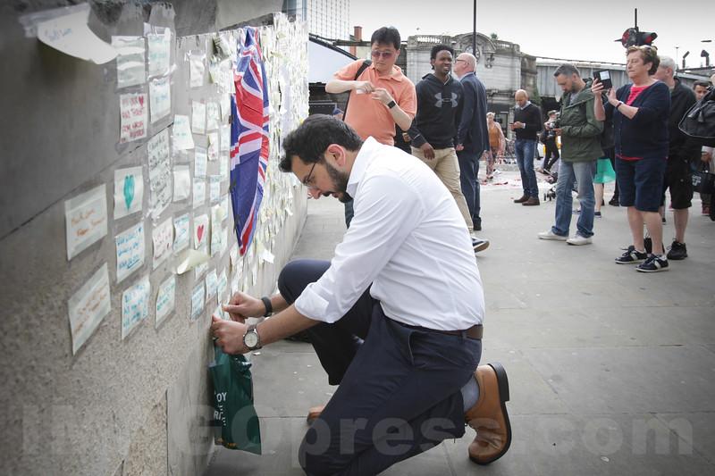 England - Tribute Victims Terror Attack