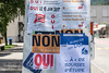 Abstimmungsplakate in 2740 Moutier - Die Gemeinde Moutier wird am 18. Juni 2017 über ihre Kantonszugehörigkeit abstimmen © Patrick Lüthy/IMAGOpress.com