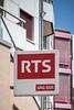 Schriftzug RTS SRG SSR in 2740 Moutier © Patrick Lüthy/IMAGOpress.com