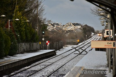 By Monday evening, Portlaoise Station was still covered in a layer of snow and ice. Mon 11.12.17