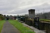 The MGWR railway branch to North Wall, now the main line to Connolly from Sligo passes over the Royal Canal at Lock 7. Sat 02.12.17