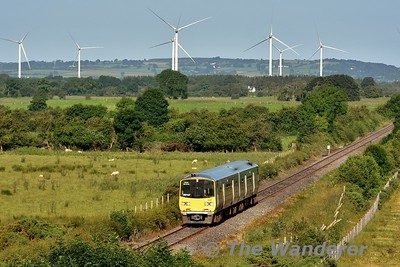 In lovely morning sunshine 2809 + 2810 approach the village of Borris-in-Ossory with the 0630 Limerick - Balybrophy. Mon 17.07.17