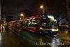 Tram 3010 now carries a Christmas advert for Lidi. It is pictured passing Benburb Street / Ashling Hotel heading to Tallaght. Wed 08.11.17