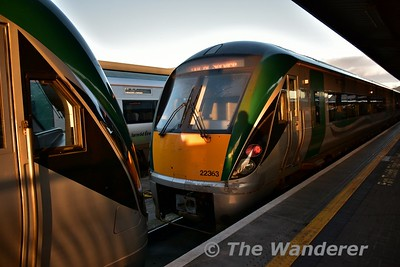 22063 stabled at Heuston prior to forming the 1728 to Portlaoise. Thurs 16.11.17