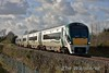 """After reversal at Kilkenny, set 22062 now leads set 22050 as it passes Commons in Co. Kilkenny with the 1240 Waterford - Heuston. Sun 05.11.17 <br><br> To see Finnyus view of the train from the roadbridge <a href=""""https://www.flickr.com/photos/finnyus/38156602352/in/photostream/"""" target=""""_blank"""">click here </a> to view it."""