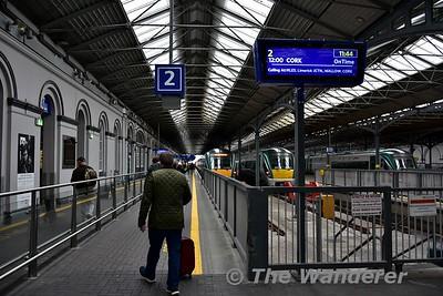 New passenger departure screens at Heuston. Fri 17.11.17
