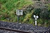 Hill of Down is located 35 3/4 miles from the former Broadstone terminus in Dublin. Note the old Midland Great Western Railway Milepost. Sat 04.11.17