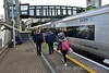 Passengers leaving the 0740 Limerick - Heuston at Portlaoise. I was expecting this service to be a lot busier with people heading to the Electric Picnic music festival in Stradbally but it was pretty much a normal enough loading. The reason for this would soon become clear. Fri 01.09.17