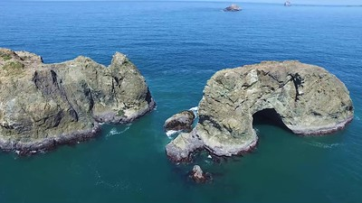 The southern coast of Oregon