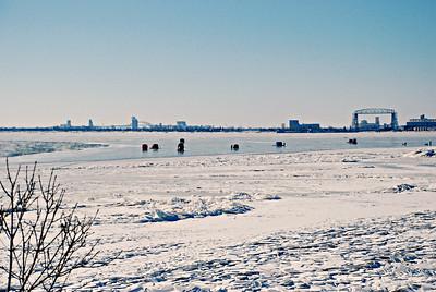 2018 02 11:  Ice Fishing, Lake Superior, Duluth, MN, US