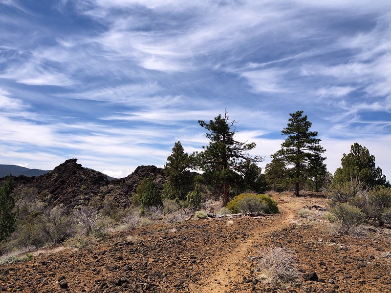 Big Nasty Trail Schonchin Butte Lava Beds National Monument California