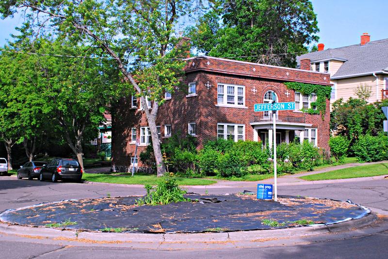 Jefferson Street Round-a-Bout Garden Under Construction