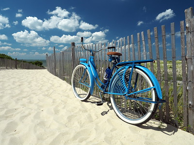 The Old Blue Bike Headed to the Cape