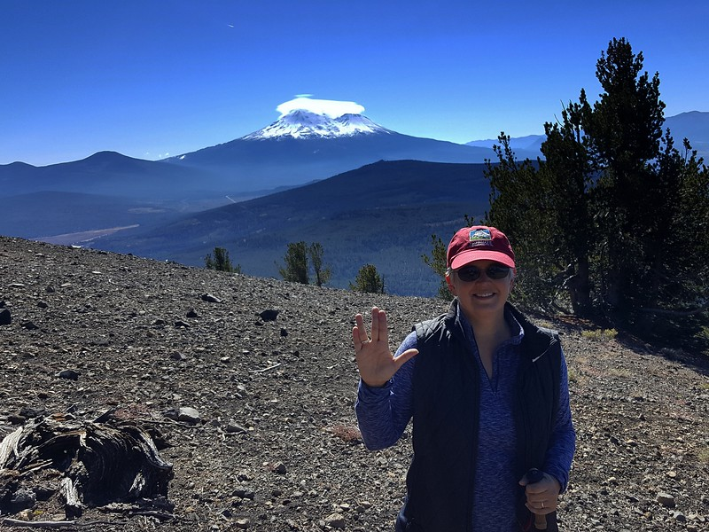 The LovedOne and Mount Shasta