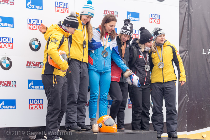 All six medalists on the podium