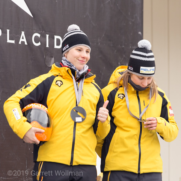 Tina Hermann, right, and Sophia Griebel, left (GER)