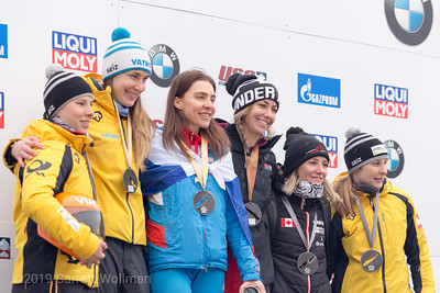 Women's medal ceremony
