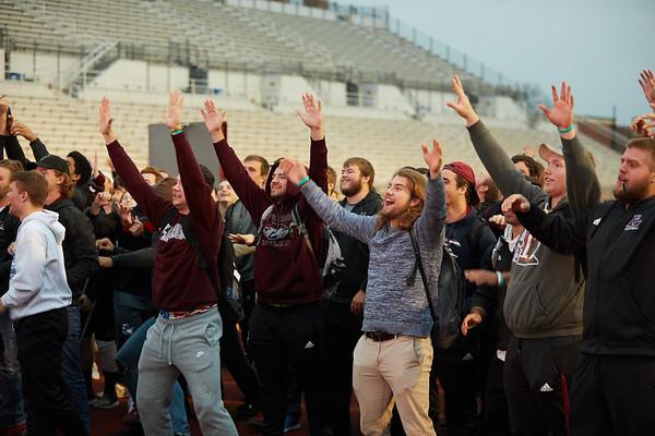 2018 UWL Fall Pepfest Band Student Athletes 0006
