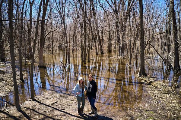 2019 UWL Drone Floodplain Forest Goose Island Park 0016
