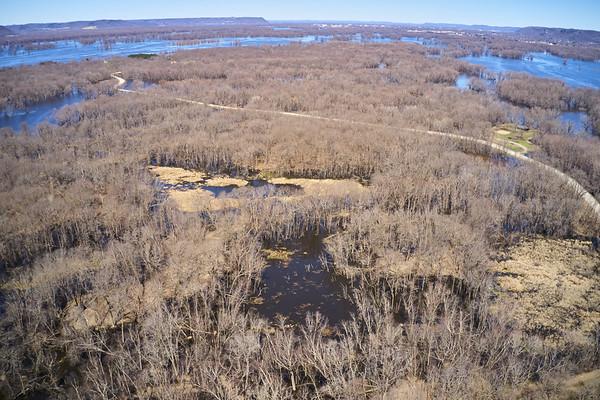 2019 UWL Drone Floodplain Forest Goose Island Park 0002