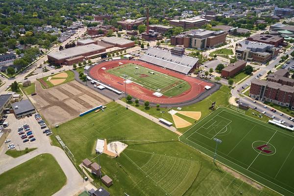 2019 UWL WIAA State Track Roger Harring Field Facilities Drone 0056