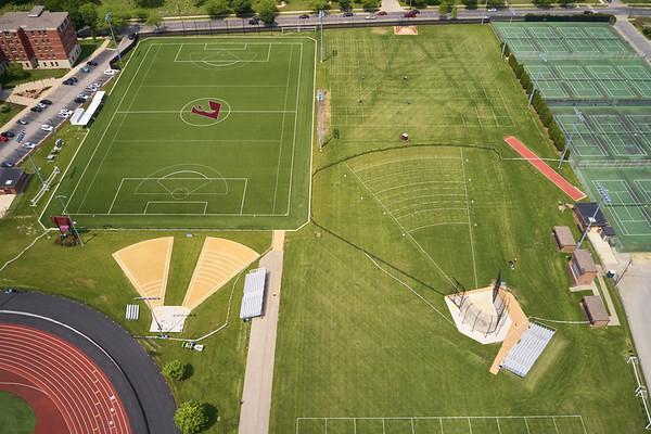 2019 UWL WIAA State Track Roger Harring Field Facilities Drone 0064