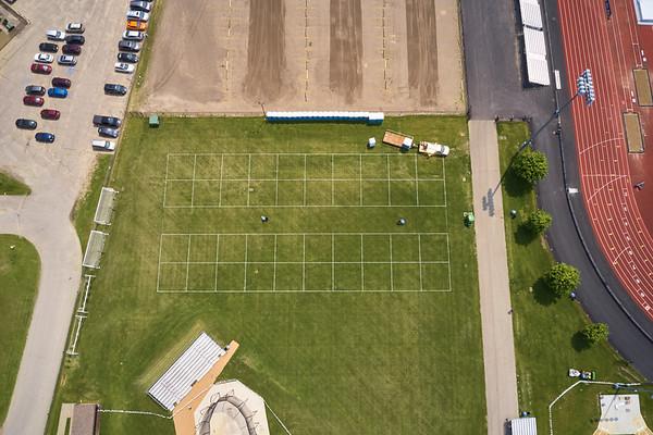 2019 UWL WIAA State Track Roger Harring Field Facilities Drone 0066