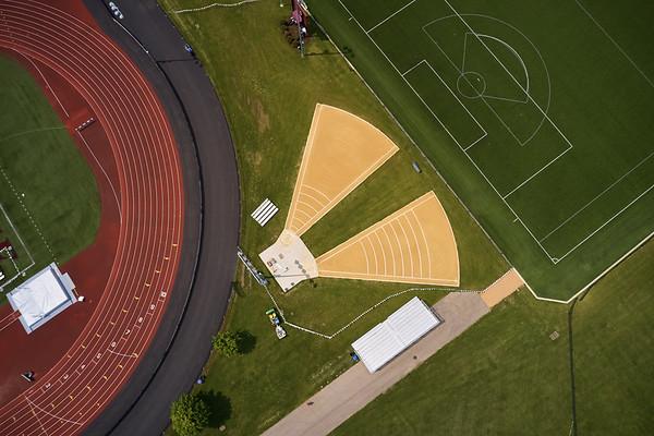 2019 UWL WIAA State Track Roger Harring Field Facilities Drone 0072