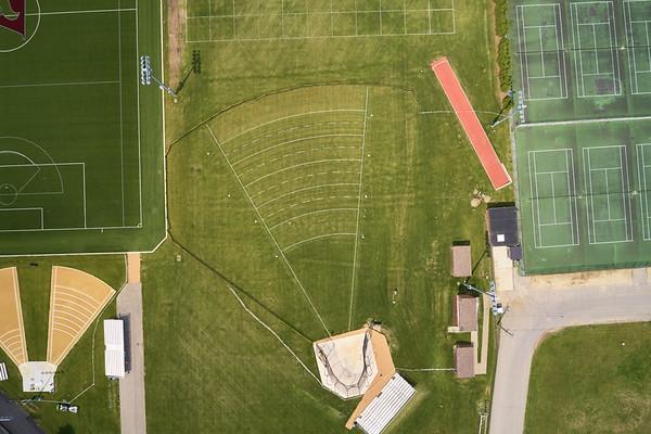 2019 UWL WIAA State Track Roger Harring Field Facilities Drone 0058