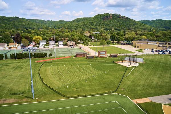 2019 UWL WIAA State Track Roger Harring Field Facilities Drone 0050