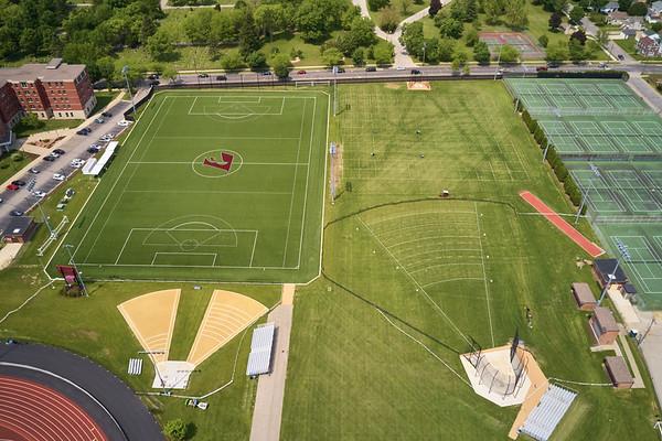 2019 UWL WIAA State Track Roger Harring Field Facilities Drone 0063