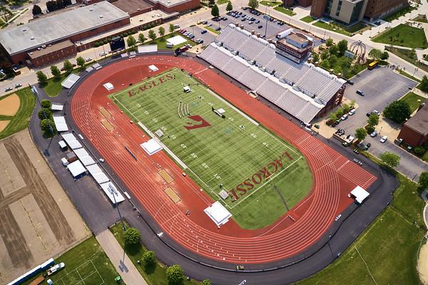 2019 UWL WIAA State Track Roger Harring Field Facilities Drone 0053