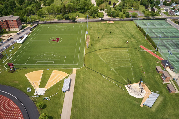 2019 UWL WIAA State Track Roger Harring Field Facilities Drone 0062