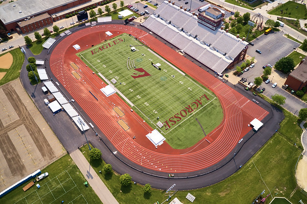 2019 UWL WIAA State Track Roger Harring Field Facilities Drone 0052